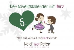 Adventskalender mit Herz -5.Dez.