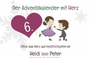 Adventskalender mit Herz - 6.Dez.